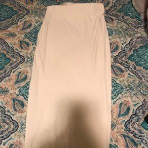 White long skirt